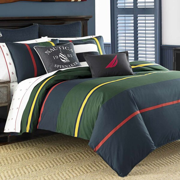 Heritage Classic Stripe 100% Cotton Comforter Set by Nautica